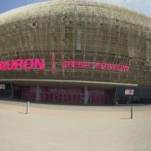 duże litery blokowe tauron arena